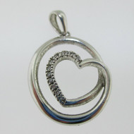 Sterling Silver Heart Circular Pendant*