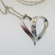 Sterling Silver BGE Daughter Heart Necklace*