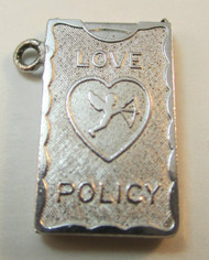 Wells Sterling Silver Movable Love Policy Charm*