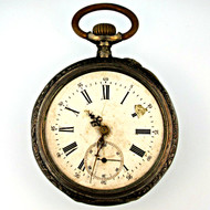 Antique 800 Silver Pocket Watch Parts Steampunk (3004479CB)