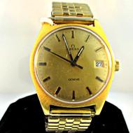 Omega Geneve 613 Date Waterproof Gold Plated Men's Watch (3004562CB)