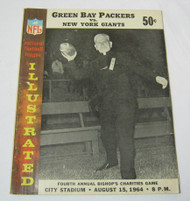 Packers vs. Giants Bishop's Charities Aug 1964 Vtg. Program