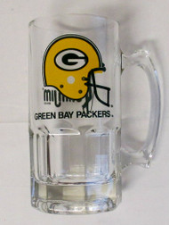1991 Collectors Green Bay Packers Slim Jim 32oz Glass Mug ***