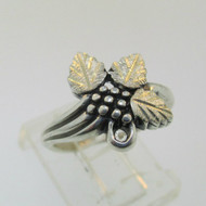 Wheeler Manufacturing Company Sterling Silver Black Hills Gold Style Ring Size 5.5