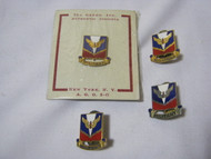 U.S. Militant Military Vtg. Pins Lot of 4
