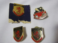 Vtg. Military Pins Veto Crest & Coelis Imperamus Lot of 4