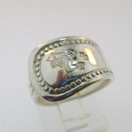 Silver Plated Expandable Centaur Spoon Ring Size 6.5