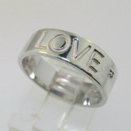 Sterling Silver Love Ring Band Size 6.75