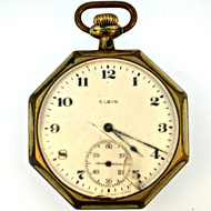Antique 1920 Elgin 7j 12s Gold Filled Pocket Watch (3005346CB)