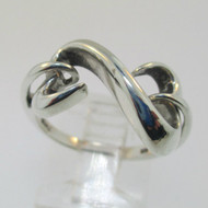 Sterling Silver JWBR Jane Seymour Open Hearts Ring Size 6.75