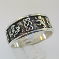 Sterling Silver Celtic Style Ring Size 11