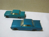 Matchbox by Lesney Vintage Cars Lincoln Continental & Ford Zephyr