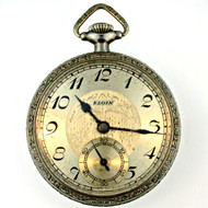 Antique 1935 Elgin National Watch Co. Pocket Watch Parts Steampunk (3005352CB)
