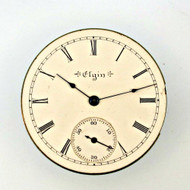Antique 1900 Elgin 6s 7j Movement and Dial Parts Steampunk (3005353CB)
