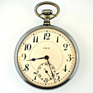 Vintage IKO Jeweled 10s Silver Tone Pocket Watch (3005613CB)