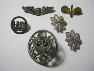 U.S. Military Pins AAF Pilot Wings Eagle Hat Badge Oak Leaf Air Corps