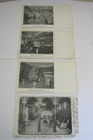 Bismark Cafe Antique Postcard Lot Bar Pipe Organ Green Bay Wi