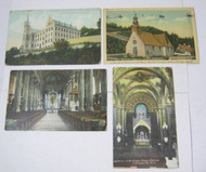Church Postcard Lot Convent Basilica St. John's Abbey Church & More