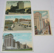 New York Central Station Street Views Mich Chicago Toronto Postcard