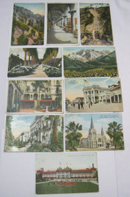 California Ca Antique Postcard Lot Mission Inn The Pike and More!