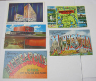 Minneapolis Minn Cooper Theatre & The Curtis Hotel Postcard Lot