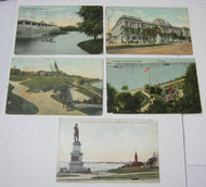 Milwaukee Wi Antique Postcard Lot Parks &  Library