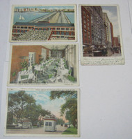 1920's Vintage & Antique Chicago Postcards Pier Busses Sun Parlor
