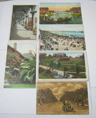 California Early Vintage & Antique Postcard Lot Homes Beach & More!