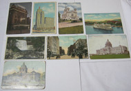 Minnesota Vintage Antique Postcard Lot Steamer Buildings Street View