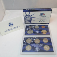 2001 United States  Mint Proof Set 10 piece 2 Tray