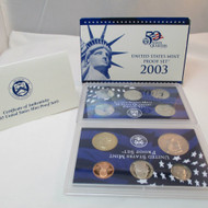 2003 United States  Mint Proof Set 10 piece 2 Tray