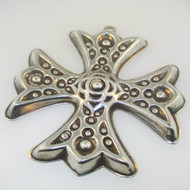 Sterling Silver 1975 Reed & Barton Christmas Cross Ornament