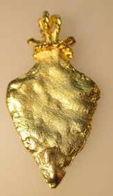 Vintage Gold Tone Arrowhead Pendant*