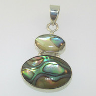 Sterling Silver Abalone Oval Cut Pendant
