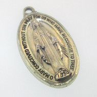 Vintage Sterling Silver Creed Miraculous Mary Pendant