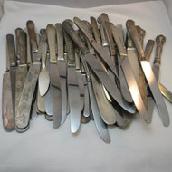 Vintage Craft Lot Silver Plated Knives 50 pcs Lot 500974