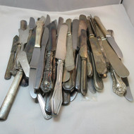 50 pcs Vintage Craft Lot Silver Plated Knives