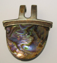 *SAW Sterling Silver Abalone Shell Pendant*