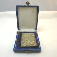 Interesting Vtg Sterling Ladies Compact Powder Case Personalized Shirley in Orig Gift Box