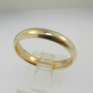 10k Yellow Gold Comfort Fit Band Size 10