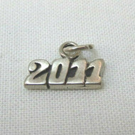 Sterling Silver Block Numbers Year 2011 Commemorative Charm