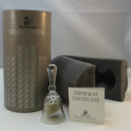 Lovely Vintage Swarovski Silver Crystal Table Bell in Orig Packaging with Certificate