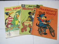 Huckleberry Hound Mickey Mouse & Poll Parrot Comic Books