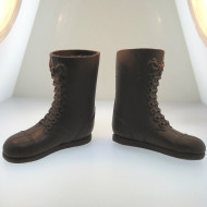 Two Pairs of Tall Brown Boots for Vintage G.I. Joe Action Figure Late 1960s