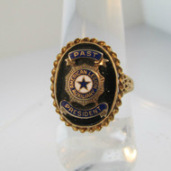 10k Yellow Gold Black Onyx American Legion Past President Ring Size 7