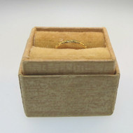 Vintage Mid-1920s Uncas 14k Gold Filled Baby Child Ring Signed R.G.P. in Box