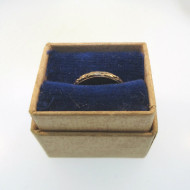 Mid-1920s Vintage 14k Gold Filled Uncas Baby Child Ring Signed R.G.P. in Box