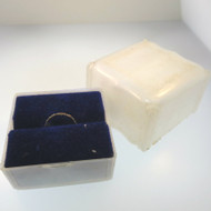 Late 1940s Vintage 14k Gold Filled Uncas R. G.P. Baby Child Ring in Orig Box