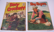 Roy Rogers Dell #57 Davy Crockett Frontier Fighter Charlton #1 Comics