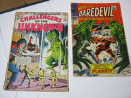 Challengers of the Unknown #43 Here Comes Daredevil #28 Comic